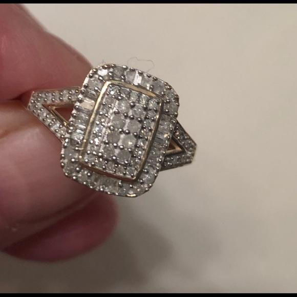 Jtv Diamond Rings >> 10kgold 50 Kt Real Diamond Engagement Ring Nwt